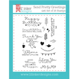 Tampons clear Send Pretty Greetings Lil'inker Design