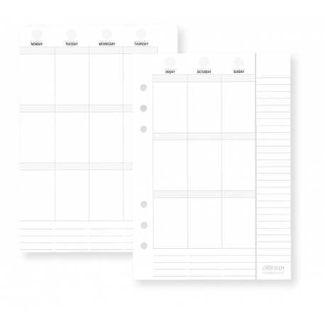 Pages pour Planner Carpe Diem  Simple Stories