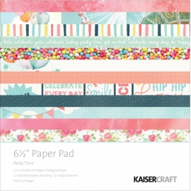 "Kaisercraft bloc papier 6.5""X6.5"" party time"