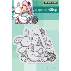 Tampons Cling Penny black Bunny Kisses