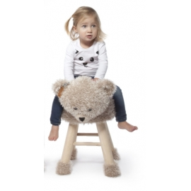 "Kit tabouret ""Ourson mignon"" au crochet"