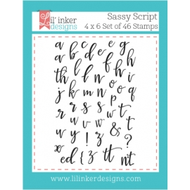 Tampons clear Sassy Script Lil'inker Design
