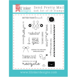 Tampons clear Send Pretty Mail Lil'inker Design