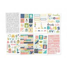 Stickers Domestic Bliss pour Planner et agenda - Simple Stories