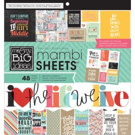 Bloc 30 x 30 de feuilles avec citations Mambi Sheet - MAMBI