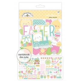 Embellissements cartonnés Easter express Doodlebug design