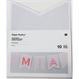 Cartons à broder - guirlande de fanions x 10 feuilles