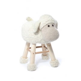 "Kit tabouret ""Mouton polisson"" au crochet"