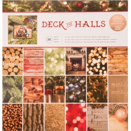 Bloc 30 x 30 de feuilles Deck the Halls - American Crafts
