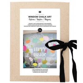 Window chalk art - Spécial Pâques