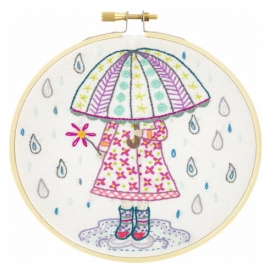 Kit de broderie parapluie