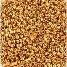Miyuki delica's 11/0 - 24kt gold plated 31