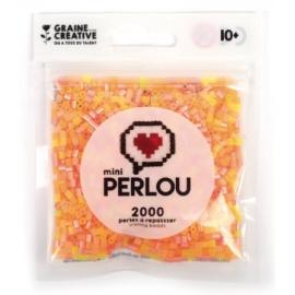 Mini Perlou - 2000 Perles à repasser Jaune orange transparent - 4 couleurs