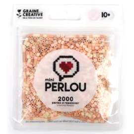 Mini Perlou - 2000 Perles à repasser Chair - 4 couleurs