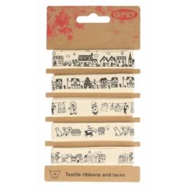Assortiment de rubans coton avec dessins