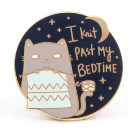 "Pin's ""I knit past my bedtime"""