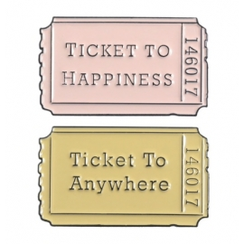Lot de 2 Pin's Ticket to
