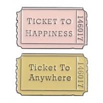 Lot de 2 Pin's Ticket to