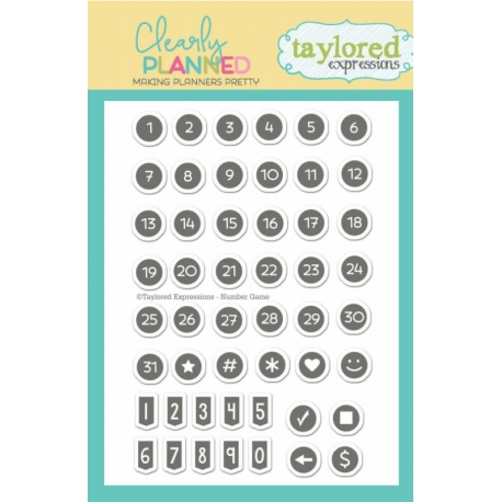 Tampons Clearly Planned - Number Game Taylored Expressions