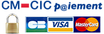 Mode de paiement sécurisé CM-CIC par CB, VISA, MASTECARD